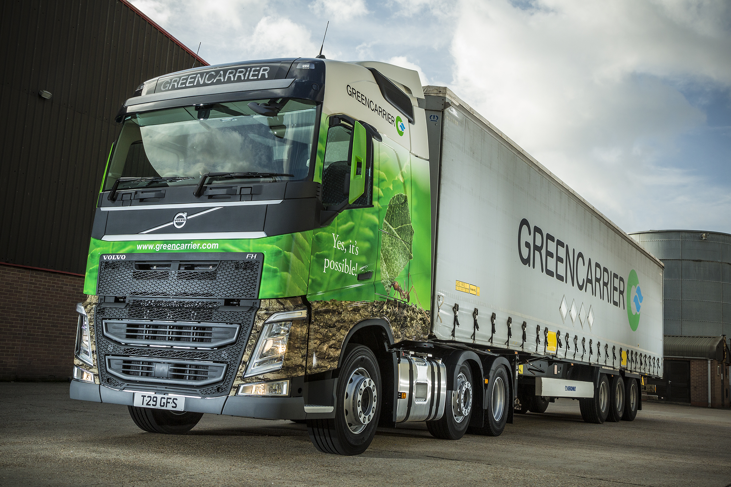 Greencarrier Freight Services Road freight service to and from the UK and Sweden
